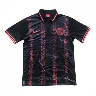 Camiseta Polo del Paris Saint-Germain 2019-2020 Negro y Rosa