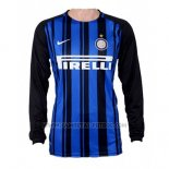 1ª Camiseta Inter Milan Manga Larga 2017-2018