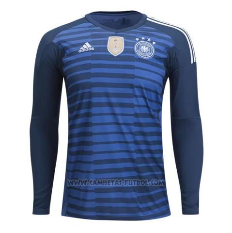 18a2825ef99ea Camiseta Alemania Portero Manga Larga 2018 Azul