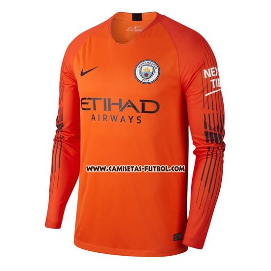 Camiseta Manchester City Portero Manga Larga 2018-2019 Naranja 4f70dee001f81