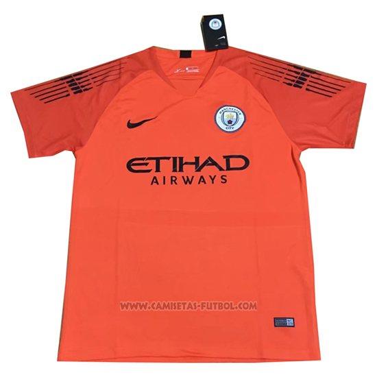 6dc90adf5e983 Tailandia Camiseta Manchester City Portero 2018-2019 Naranja