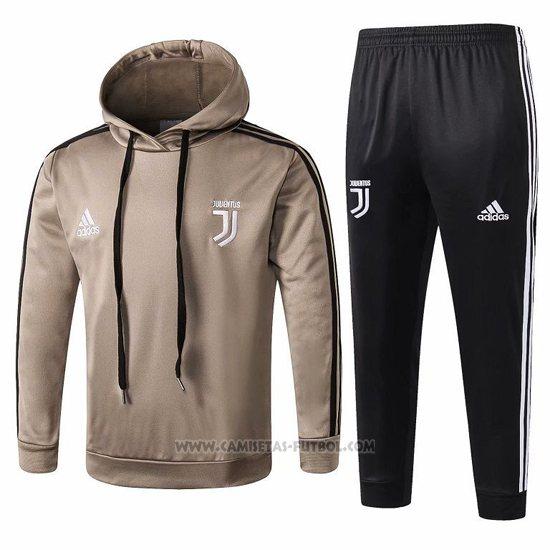 Chandal Con Capucha del Juventus Nino 2018-2019 Amarillo Marron cb7181417111b